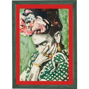 Nástěnný obraz v rámu Surdic Red Frida, 30 x 40 cm