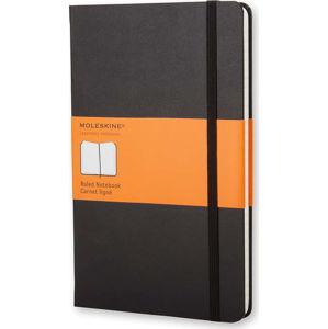 Černý linkovaný zápisník v pevné vazbě Moleskine, 192stran