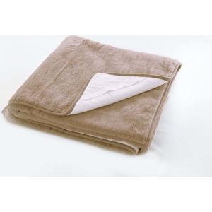 Hnědý ochranný potah na matraci z merino vlny Royal Dream,140x200cm