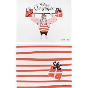 Vánoční prostírání z bavlny Butter Kings Training Santa,45x35cm