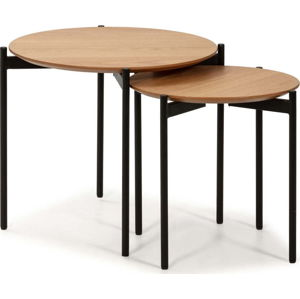 Sada 2 konferenčních stolků v dřevěném dekoru Marckeric Piera