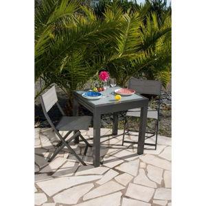 Set zahradního rozkládacího stolku a 2 židlí Ezeis Balcony
