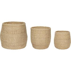 Sada 3 úložných košíků z banánovníku Hübsch Muna