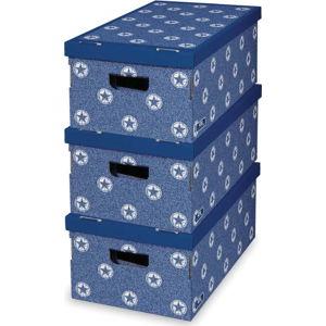 Sada 3 úložných boxů Domopak Star