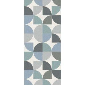 Modro-šedý běhoun Floorita Seventy, 60 x 240 cm