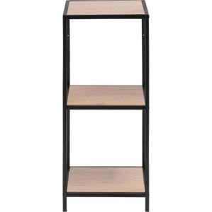 Černo-hnědá nástěnná knihovna Actona Seaford, výška 82,5 cm
