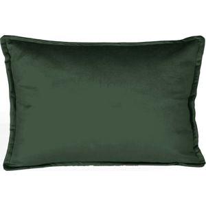 Tmavě zelený dekorativní povlak na polštář Velvet Atelier Bobby, 50 x 35 cm