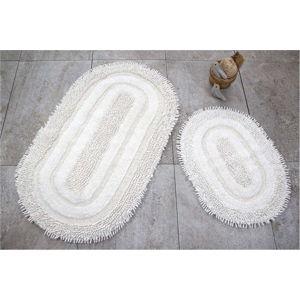 Sada 2 bílých koupelnových předložek Jane