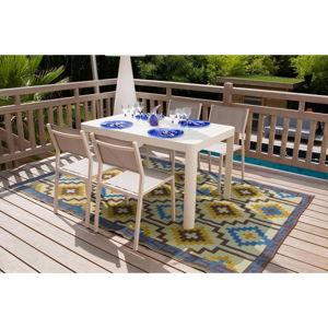 Set 4 zahradních židlí a jídelního stolu Ezeis Calypso