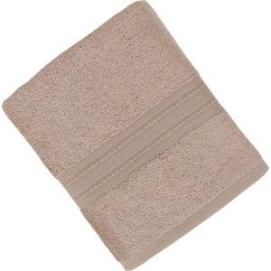 Hnědý ručník z bavlněných a bambusových vláken Ted, 50x90 cm